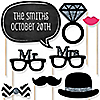 Wedding - 20 Piece Photo Booth Props Kit