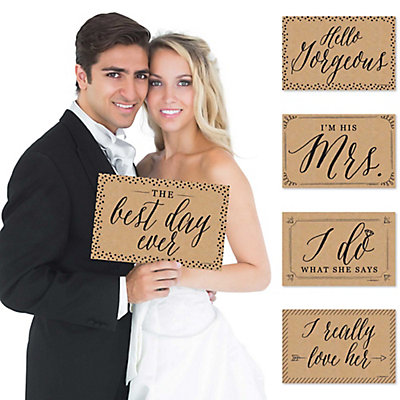 Wedding - 10 Piece Photo Props Kit