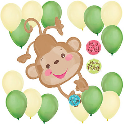 Welcome baby monkey baby shower balloon kit - Monkey balloons for baby shower ...