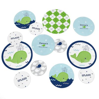 Tale Of A Whale   Personalized Baby Shower Table Confetti   27 Ct