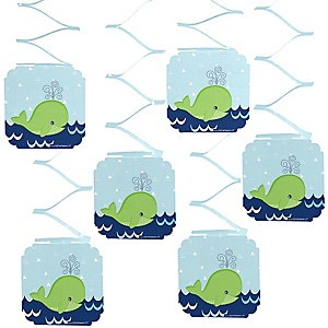 Tale Of A Whale - Party Hanging Decorations - 6 ct