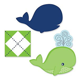 Tale Of A Whale - Shaped Party Paper Cut-Outs - 24 ct