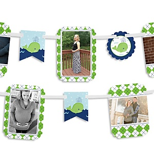 Tale Of A Whale - Baby Shower Photo Bunting Banner
