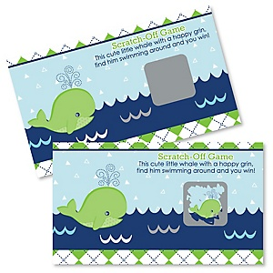 Tale Of A Whale - Personalized Party Game Scratch Off Cards - 22 ct