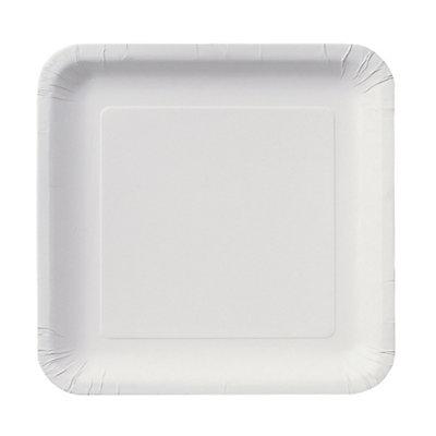 White - Dessert Plates - 18 Qty/Pack - Baby Shower Tableware