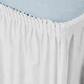 White - Baby Shower Table Skirt