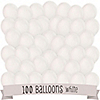 White - Birthday Party Latex Balloons - 100 ct