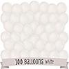 White - Birthday Party Latex Balloons - 100 ct