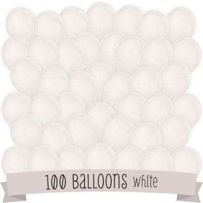 white bridal shower latex balloons 100 ct