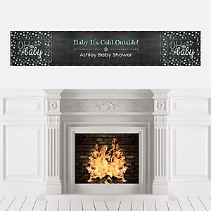 Oh Baby - Winter - Personalized Baby Shower Banners