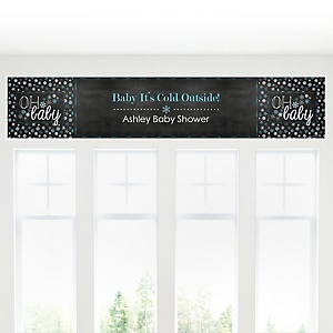 Oh Baby - Winter - Personalized Baby Shower Banner