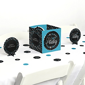 Oh Baby - Winter - Baby Shower Centerpiece & Table Decoration Kit