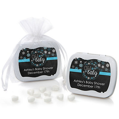 Oh Baby - Winter - Personalized Baby Shower Mint Tin Favors...