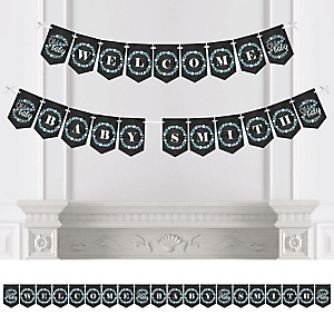 Oh Baby - Winter - Personalized Baby Shower Bunting Banner