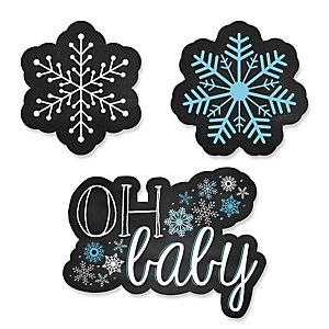 Oh Baby - Winter - Shaped Party Paper Cut-Outs - 24 ct