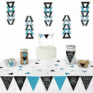 Oh Baby - Winter - Baby Shower Triangle Decoration Kits - 72 Count