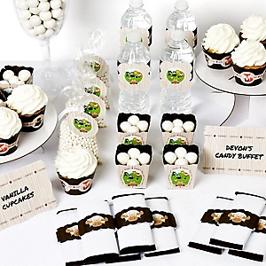 Woodland Creatures - Birthday Party or Baby Shower Decoration Kit - Party Buffet Table Supplies - 48 Pieces