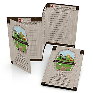 Woodland Creatures - Fabulous 5 Personalized Baby Shower Games