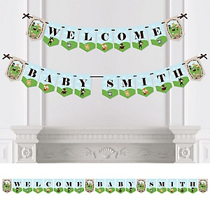 Woodland Creatures - Personalized Baby Shower Bunting Banner