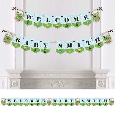 woodland creatures party bunting banner