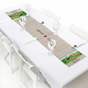 Woodland Creatures - Personalized Baby Shower PetiteTable Runners