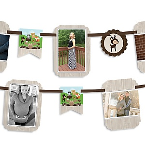 Woodland Creatures - Baby Shower Photo Bunting Banner