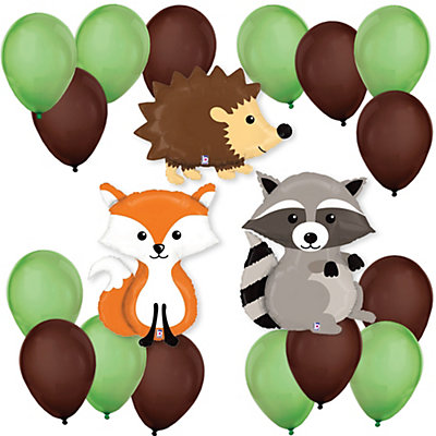 woodland creatures baby shower balloon kit
