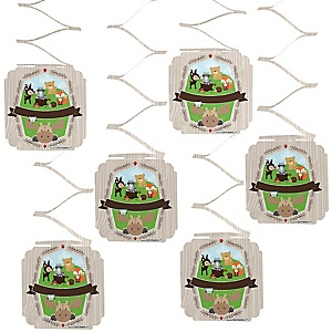 Woodland Creatures - Baby Shower Hanging Decorations - 6 Count