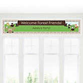Woodland Creatures - Personalized Baby Shower Banner