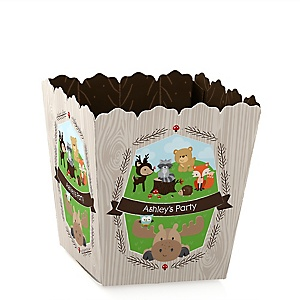 Woodland Creatures - Personalized Baby Shower Candy Boxes