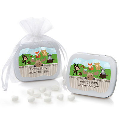 Woodland Creatures - Personalized Party Mint Tin Favors...