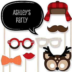 Woodland Creatures - Baby Shower Photo Booth Props Kit - 20 Props