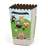 Woodland Creatures - Personalized Baby Shower Popcorn Boxes