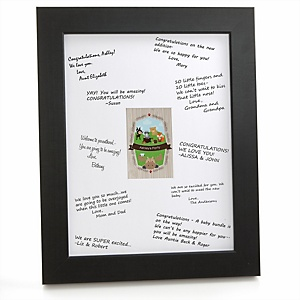 Woodland Creatures - Personalized Baby Shower Print with Signature Mat