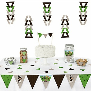 Woodland Creatures - Baby Shower Triangle Decoration Kits - 72 Count