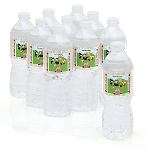 Woodland Creatures - Baby Shower Personalized Water Bottle Sticker Labels - 10 Count