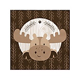 Woodland Creatures - Baby Shower Beverage Napkins - 16 Pack