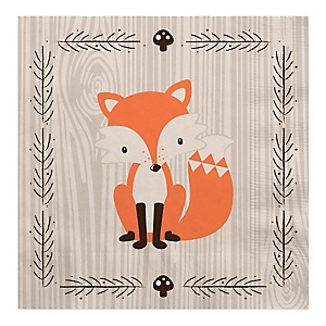 Woodland Creatures - Baby Shower Luncheon Napkins - 16 ct