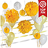 Yellow & White - Baby Shower Décor Kit