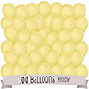 Yellow - Birthday Party Latex Balloons - 100 ct