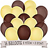 Brown and Yellow - Birthday Party Latex Balloons - 16 ct