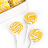 Yellow - Lemon Swirl Lollipops - Birthday Party Candy - 24 ct
