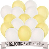 Yellow and White - Baby Shower Balloon Kit - 16 Count