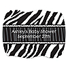 Zebra - Personalized Baby Shower Squiggle Stickers - 16 ct