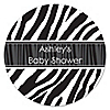 Zebra - Personalized Baby Shower Sticker Labels - 24 ct
