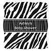 Zebra - Personalized Baby Shower Tags - 20 ct