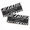 Zebra - Personalized Birthday Party Candy Bar Wrapper Favors