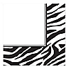 Zebra - Birthday Party Luncheon Napkins - 16 ct