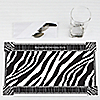 Zebra - Personalized Birthday Party Placemats