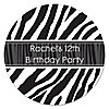 Zebra - Personalized Birthday Party Sticker Labels - 24 ct